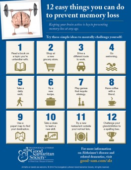 12 easy tips to prevent memory loss