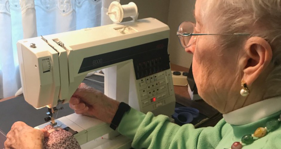 100-year old resident surpasses goal of sewing 100 face masks